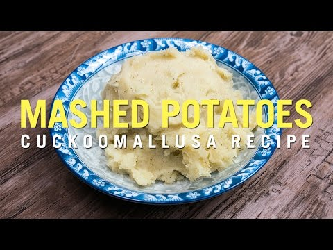 Cuckoo Rice Cooker Recipe: Garlic Mashed Potatoes