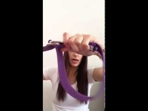yoga strap tutorial