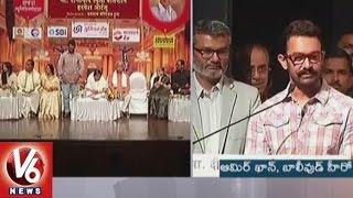 Aamir Khan Receives Deenanath Mangeshkar Award For Dangal || V6 News