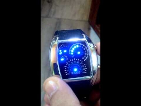 Pappi Speedometer Digital Led Watch - Time Setting
