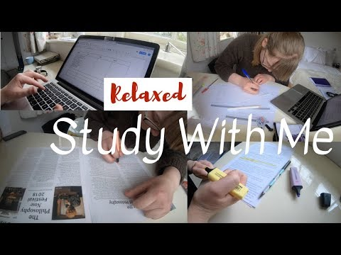 Relaxed Study Day || Holiday Study With Me