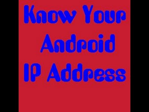 Find IP address android smart phone and tablet quick.