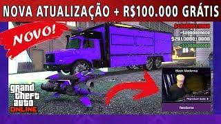 Nova atualização no GTA 5 ONLINE e comprando tudo + R$100.000 dólares gratís