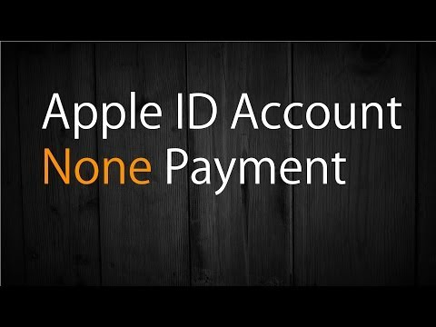Apple ID Account - None Payment Method (No Credit Card)