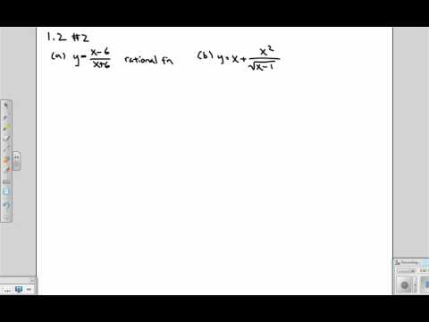 Rational functions, algebraic, exponential, power, polynomial and trigonometric functions