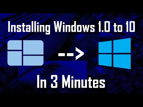 Installing Windows 1.0 to 10 (Time Lapse) on a Virtual Machine