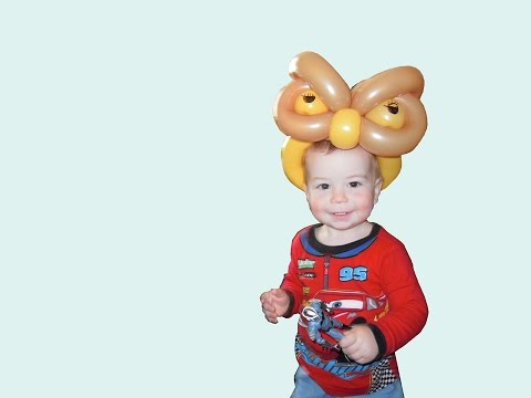Balloon owl hat