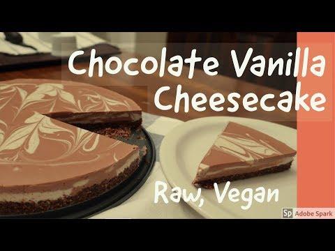 Chocolate Vanilla Cheesecake | Raw, Vegan