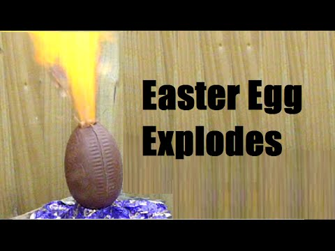 How to explode a chocolate easter egg with hydrogen