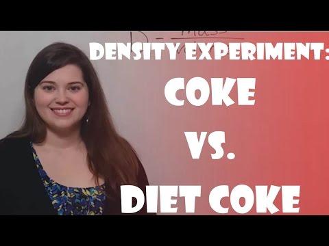Density Experiment - Coke vs. Diet Coke