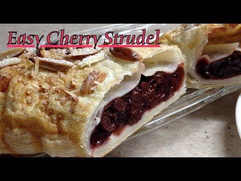 Easy Cherry Strudel cheekyricho