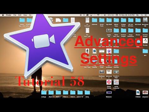 Advanced Settings in iMovie 10.0.6   Tutorial 58