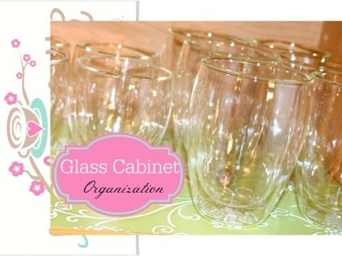 An Organized Home: Glassware Cabinet Organization {how to organize}