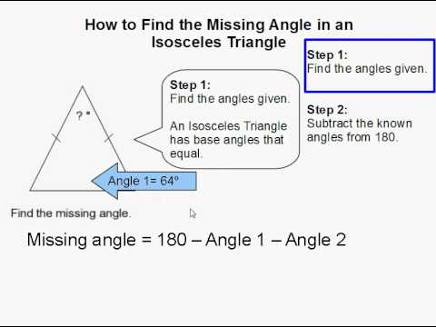 How to Find the Missing Angle in an Isosceles Triangle
