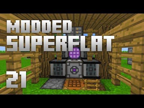►Modded Superflat - UPGRADES   Ep. 21   Modded Minecraft Survival◄