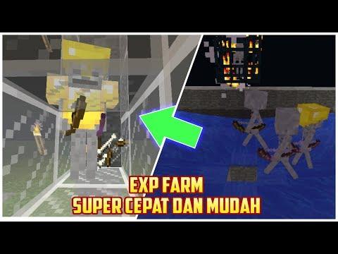 Cara membuat EXP FARM 1 HIT MOB MATI - MCPE tutorial