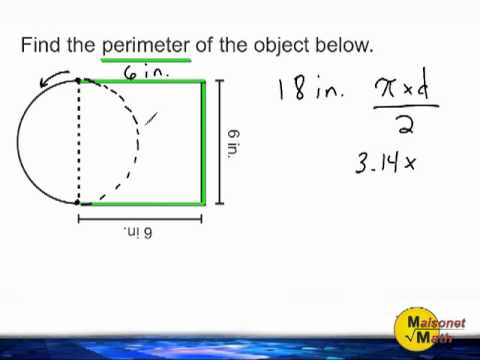 Finding The Perimeter Of A Semi-Circle Attached To A Square