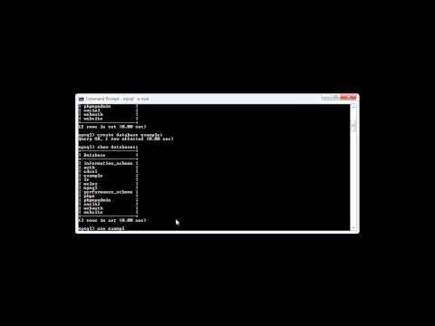 MySQL: Selecting a Database