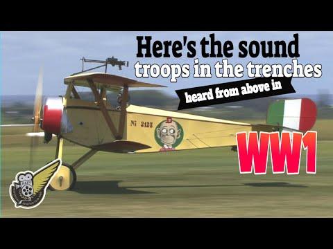 Four Noisy WW1 Fighter Aircraft