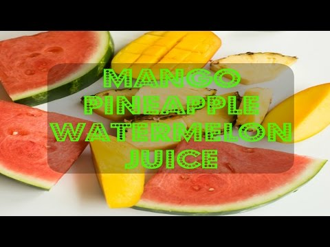 ALL NATURAL FRUIT JUICE   MANGO PINEAPPLE WATERMELON   IN THE KITCHEN