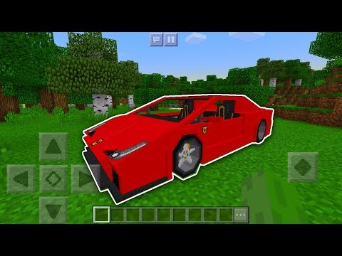 REAL WORKING CAR in Minecraft Pocket Edition with Addons (1.2)