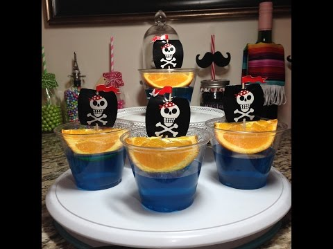 Pirate Ship Jello Dessert With Orange Wedge