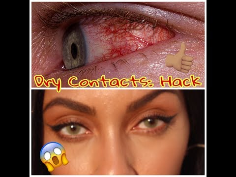 NEW! DRY CONTACT LENS - HACK