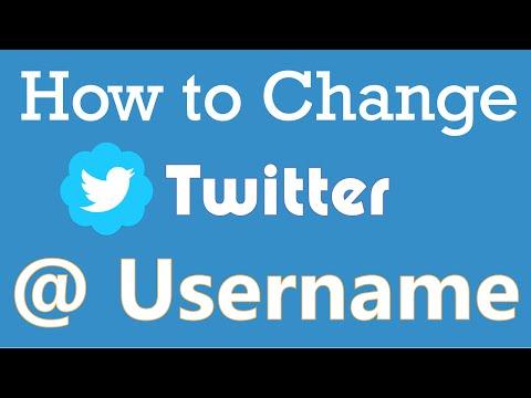 How to change Twitter Username - 2016