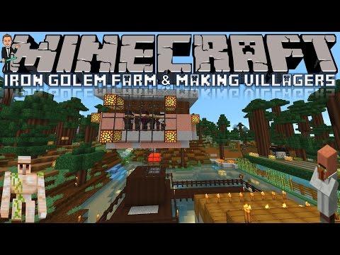 Minecraft: Iron Golem Farm & Making Villagers! - Survival (Minecraft 1.8 Vanilla)