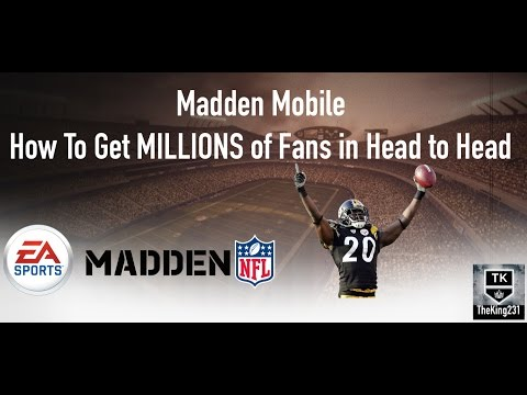 Madde Mobile How to get MILLIONS of fans in Head to Head (FAST AND EASY)