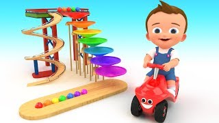 Small World Color Balls Slider Wooden Toy Set 3D | Learn Colors for Children Baby Kids Educational