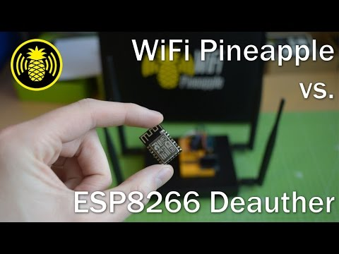Testing WiFi Pineapple with ESP8266 Deauther