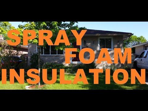Spray foam Insulation - How To  Create a Basement Apartment (8of14) No Fiberglass