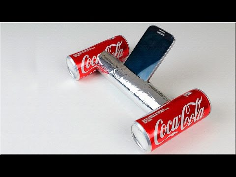 HOW TO MAKE A SPEAKER FROM COCA-COLA   DIY  TUTORIAL