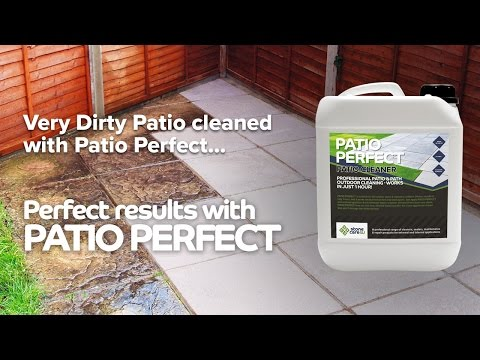 Patio Perfect Patio Cleaner - Before and After