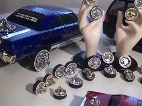 RudysRidez Hydraulics lowriders plastic models R/C Custom G-Wheels