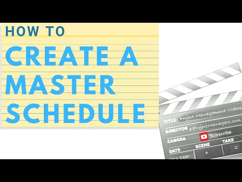 How to Create a Master Schedule with MS Project