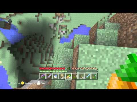Minecraft Xbox: How to Water Bucket Clutch!