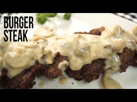 Quick & Easy Mushroom Burger Steak In Minutes