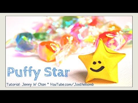 Origami Star - Paper Stars Tutorial - How to Fold Origami Lucky Stars - EASY Paper Craft