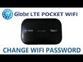 How to Change Globe LTE Pocket WiFi Password