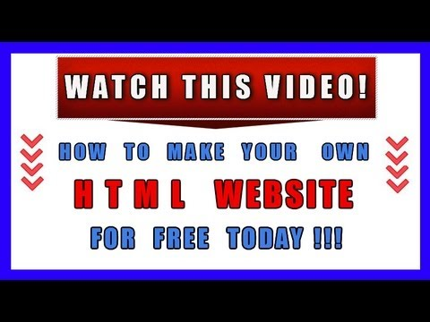 How To Make Your Own HTML Website For Free TODAY