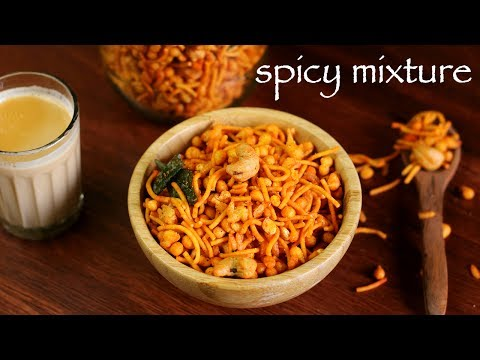 mixture recipe | south indian mixture recipe | how to make spicy kerala mixture