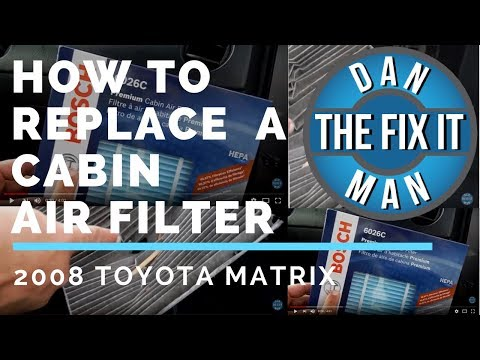 2008 Toyota Matrix How to Replace the Cabin Air Filter - DIY - Bosch HEPA Filter