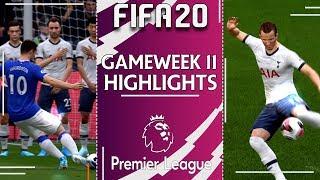 FIFA 20 PREMIER LEAGUE 2019/20 | Gameweek 11 Highlights