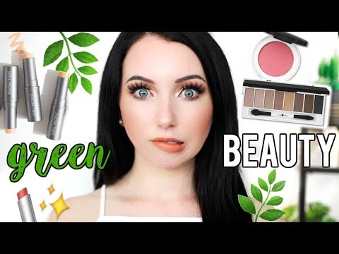 🍃 TRYING GREEN BEAUTY MAKEUP ✨ RMS, Vapour, W3ll People, Lily Lolo & More!