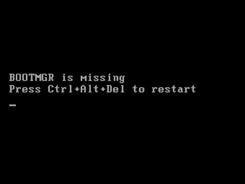 Résoudre l'erreur bootmgr is missing / est absent