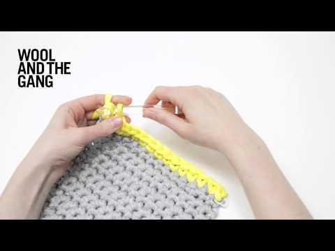 How to make a single crochet edge trim