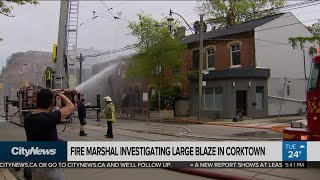 Fire Marshal investigating blaze at rowhouses in Corktown