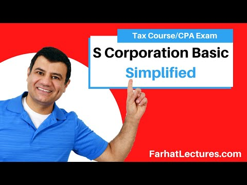 S Corporation Basic | Corporate Income Tax | CPA REG | Ch 22 P 1
